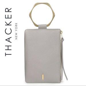 Thacker Nolita Hexagon Ring Tassel Leather Clutch